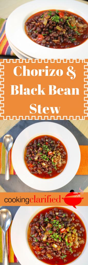 Chorizo black bean stew