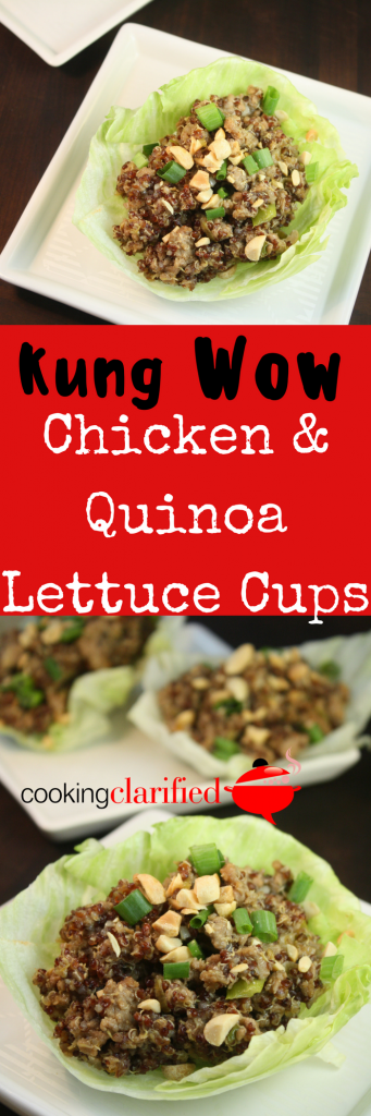 Kung Wow Chicken & Quinoa Lettuce CupsPIN