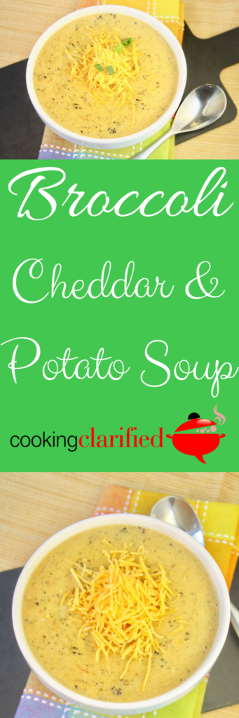 How to Make Pureed Soups | Broccoli Cheddar Potato Soup