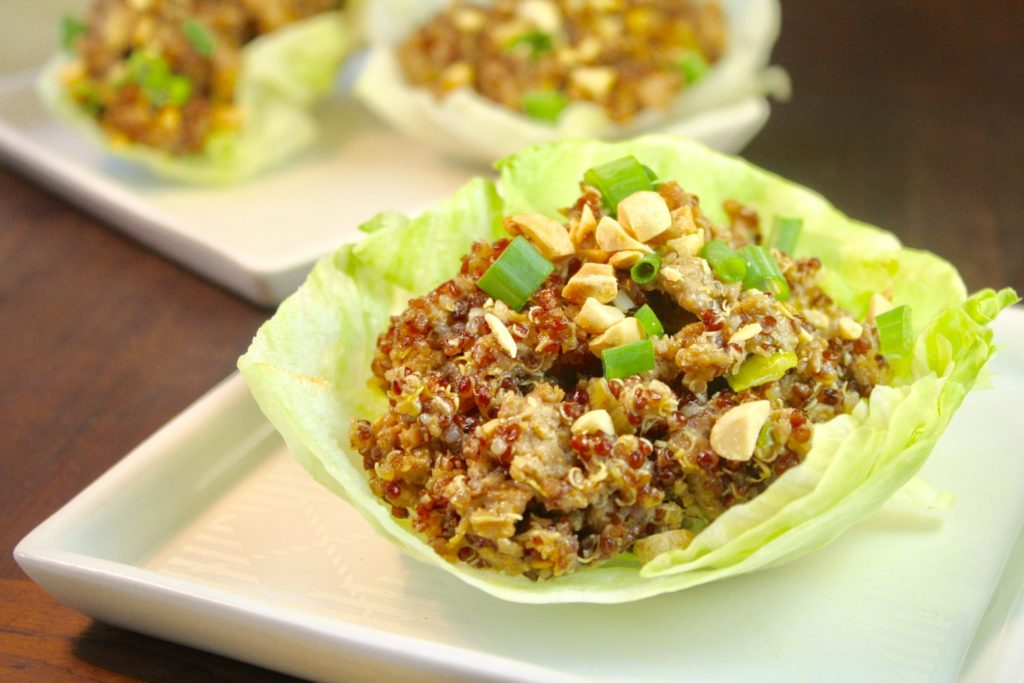 Kung Wow Chicken & Lettuce Cups