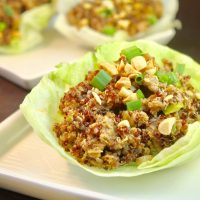 Kung WOW Chicken & Quinoa Lettuce Cups