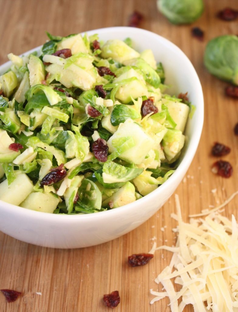 Brussels Sprouts Salad with Apples & Cranberries - Cooking Clarified