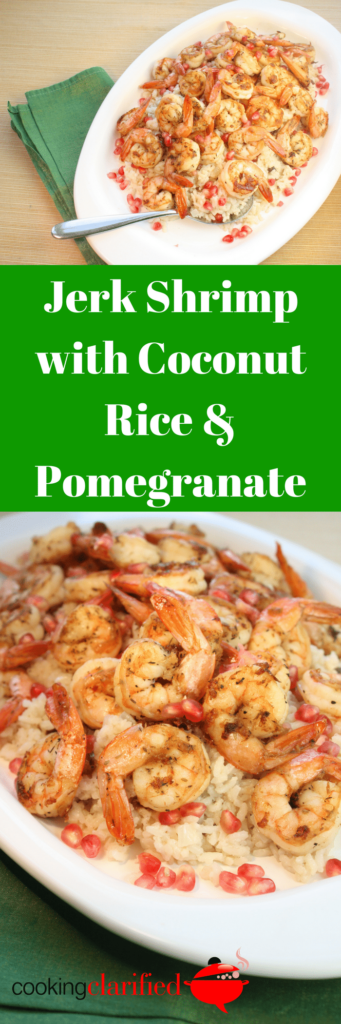 Jerk Shrimp with Coconut Rice & Pomegranate
