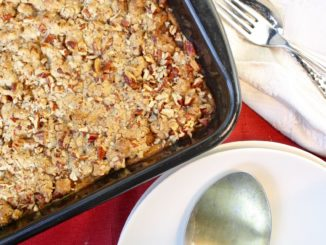 Sweet Potato Casserole with Pecan Streusel