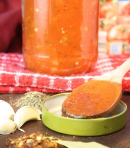 My Quick Tomato Sauce recipe turns homemade sauce into a weeknight reality! Seriously. This recipe takes you from a spin around a sauté pan to a bowl full of pasta in less than an hour. Chopping the onion and mincing the garlic are the most time-consuming tasks. Even better, you likely have all the ingredients you need to make this sauce in your pantry. Score! You can serve it as is with your pasta of choice or use it as a base for other sauces.