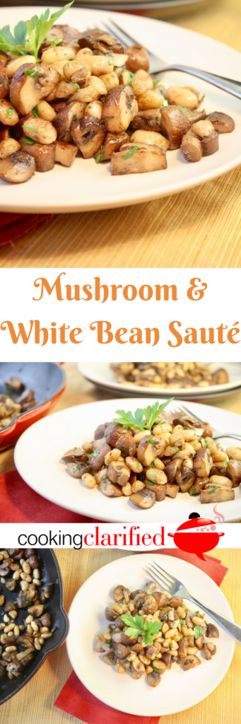 This Mushroom & White Bean Sauté is a testament to the wonder of a few simple ingredients in a dish. Sautéed creminis - you can swap them out for your favorite mushroom - paired with creamy white beans and an herb or two and you can have this on the table in no time. It works as a side dish or as a meatless main. (Hello, Meatless Monday.)
