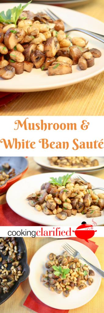 Cremini vs portobello mushrooms | Mushroom & White Bean Sauté