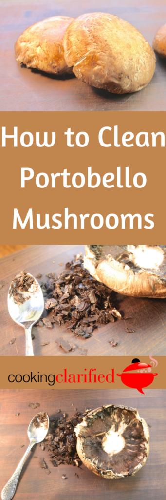 Clean Portobello Mushrooms