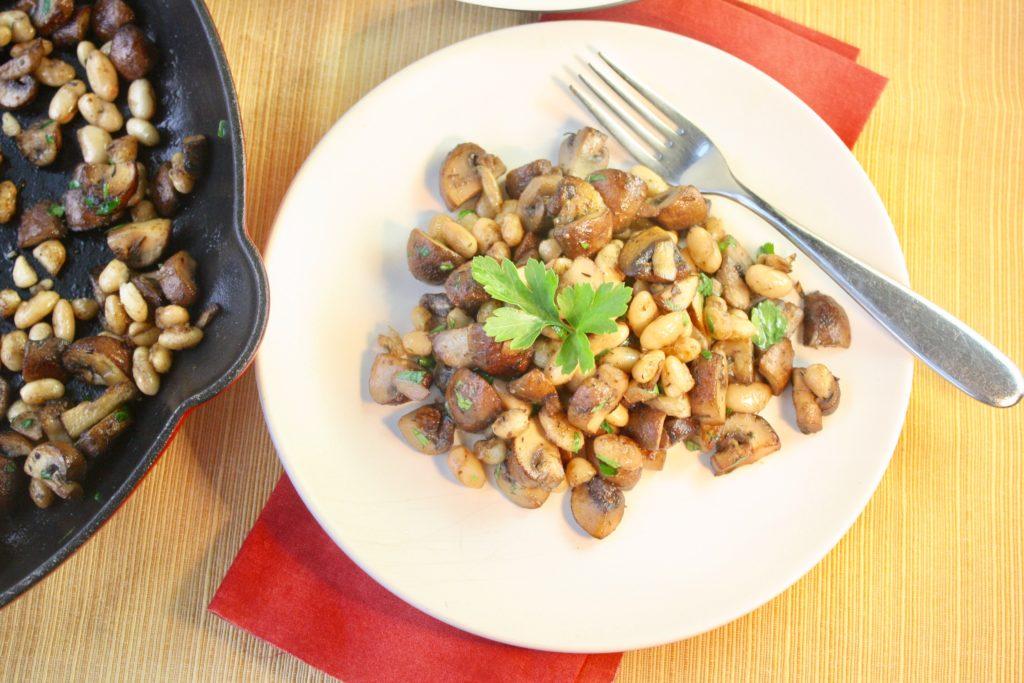 Mushroom & White Bean Saute