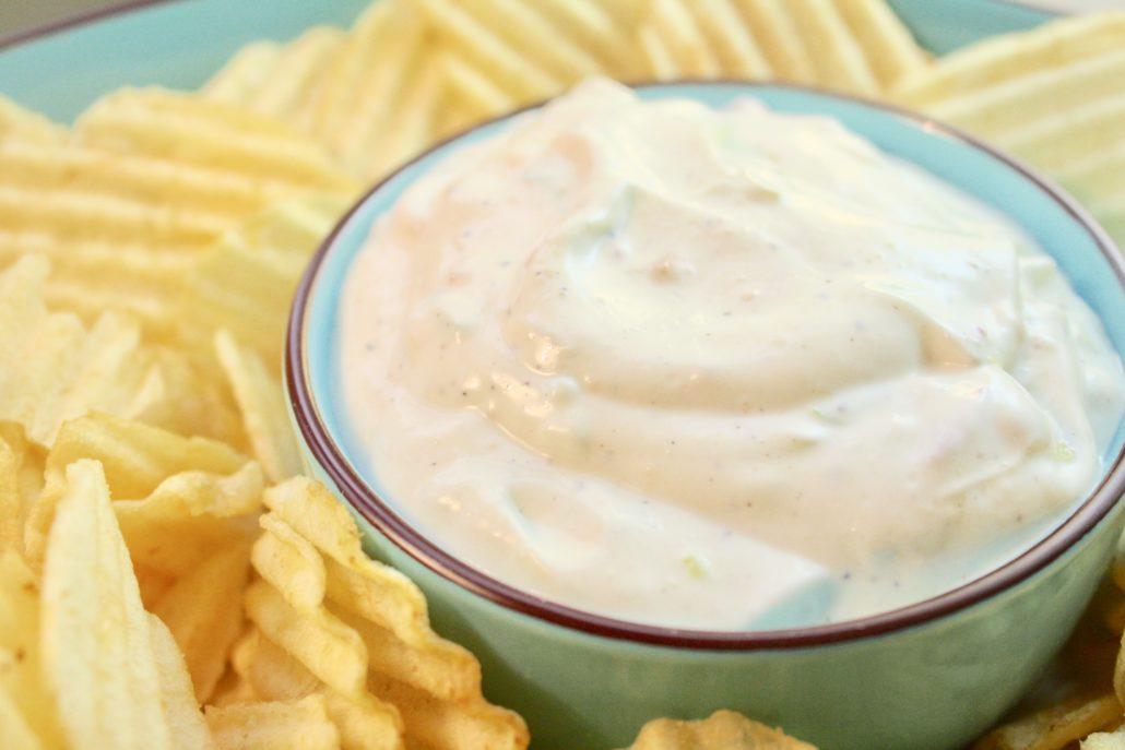 Creamy Onion Dip from Scratch