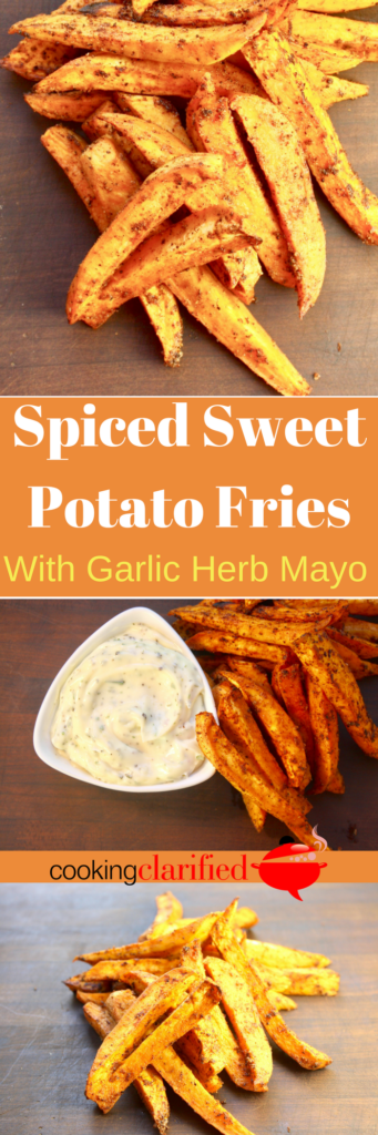 I love these Spiced Sweet Potato Fries more than regular fries! It's their flavor that makes them out-of-this-world delicious. This mix of spices is the perfect balance to the fries' natural sweetness. They make an excellent snack or an out of the box side dish for your barbecue's burgers and hot dogs.