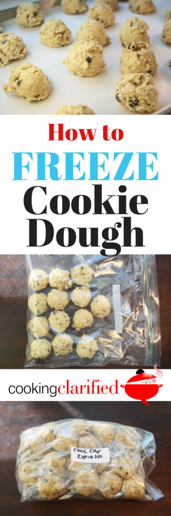 Learn how easy it is to freeze cookie dough & have freshly-baked cookies whenever you want them! Also, a recipe for Chocolate Chip Walnut Espresso Cookies.