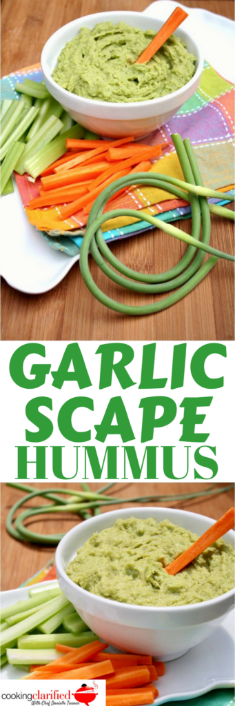 I have a thing for hummus, especially a garlicky hummus. This Garlic Scape Hummus is my summertime jam! It gives me the yum of hummus with an extra garlicky kick from the scapes. Make this and let me know how much you love it.