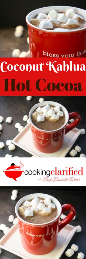 Coconut Kahlua Hot Cocoa