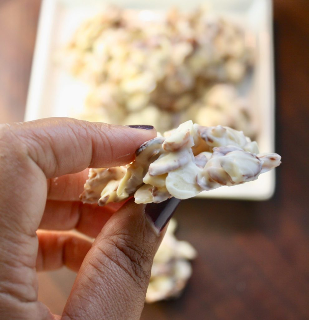 White Chocolate Almond Bark Bites