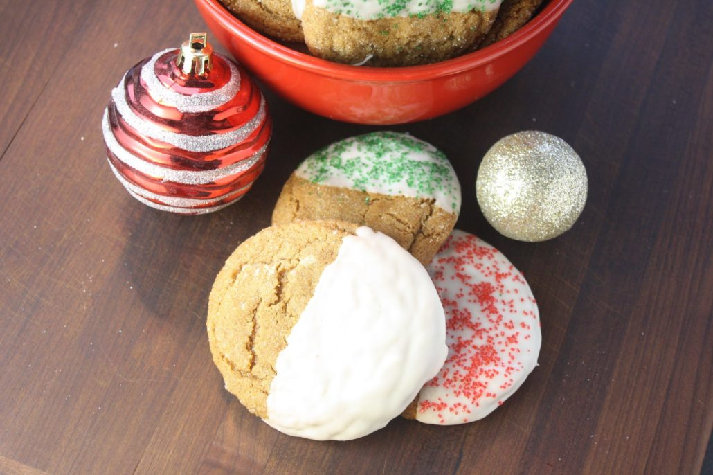 Molasses Spice Cookies with White Chocolate