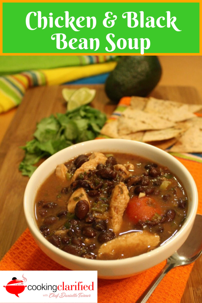 Chicken & Black Bean Soup is gonna be your new favorite thing! It's simple to make and a filling one-pot meal. It's delicious with chicken but equally yummy with shrimp, too.