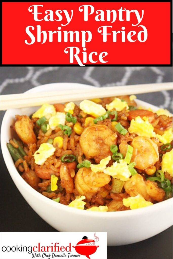 Stock your Asian Pantry with a few staples and you can whip up this easy Shrimp Fried Rice in minutes! Quick to cook and tasty to boot. You'll have a hard time ordering it from your takeout menu after you've had this. It's that simple and that good.