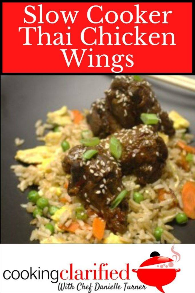 This recipe for Thai Chicken Wings is a wonderful example of how simple slow cooker recipes can be. The wings make a tasty finger food (Super Bowl party, anyone?) or a simple dinner served over fried rice.