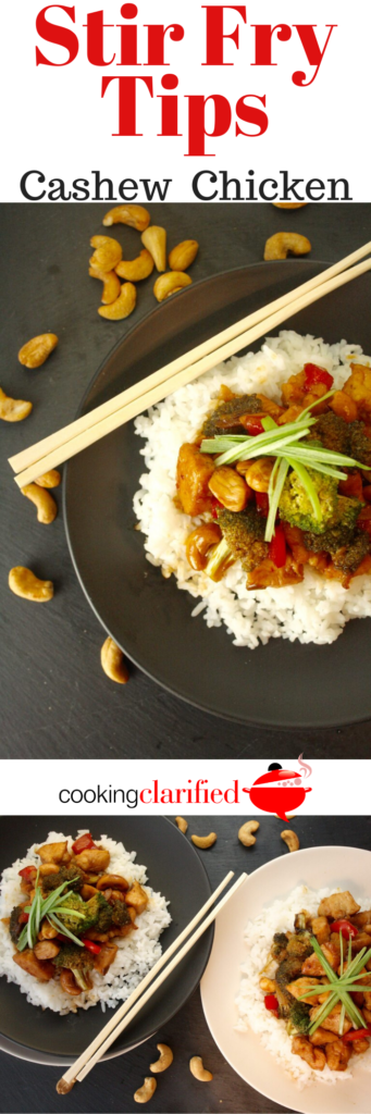 This Cashew Chicken is a perfect go-to dish when dinner in a hurry is what's on the menu. If you're like me – a dedicated apostle in the church of the boneless, skinless chicken breasts and thighs – you'll have these on hand All. The. Time. Add your favorite veggies, a l'il sauce, a quick turn in a really hot pan and you'll have dinner on the table in minutes!