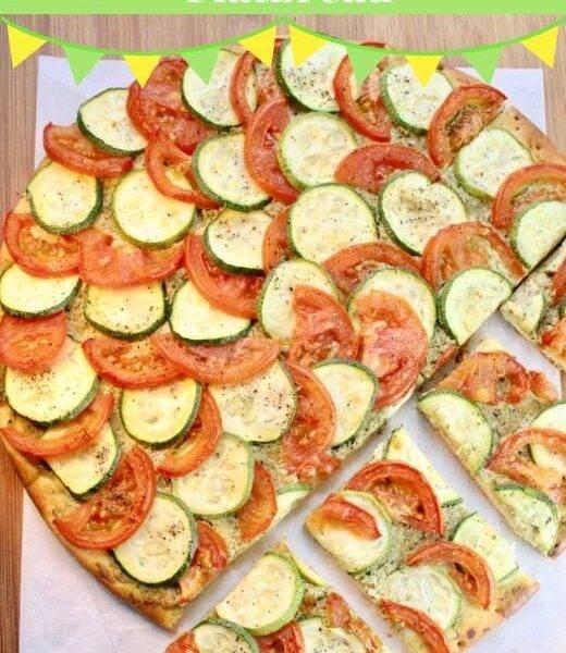 Zucchini & Tomato Flatbread