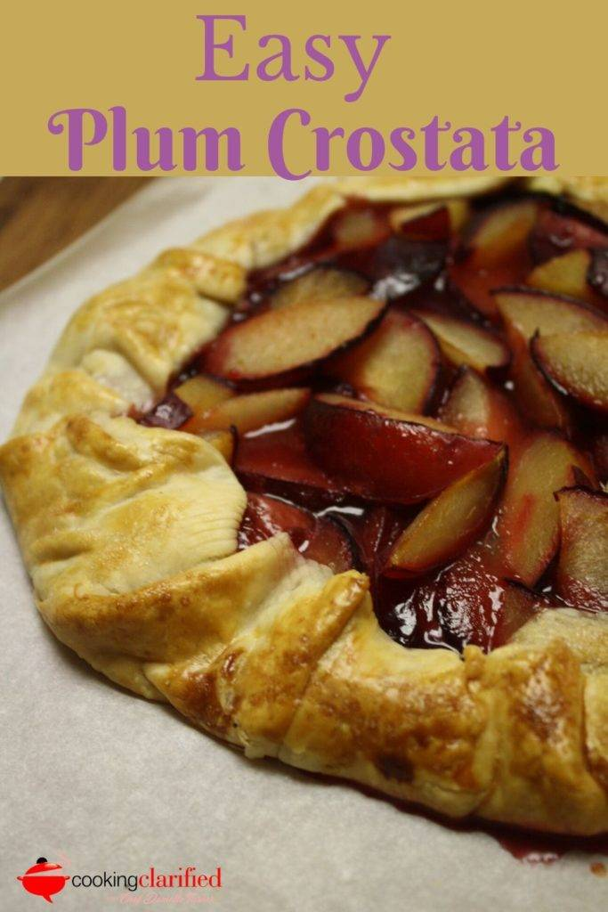 Plum Crostata are the perfect dessert for casual cooks. They're free-form, fruit-filled tarts baked on a baking sheet instead of in a pie plate or tart pan. A refrigerated pie crust saves time and the stress that can come with trying to make a perfect pie crust from scratch.