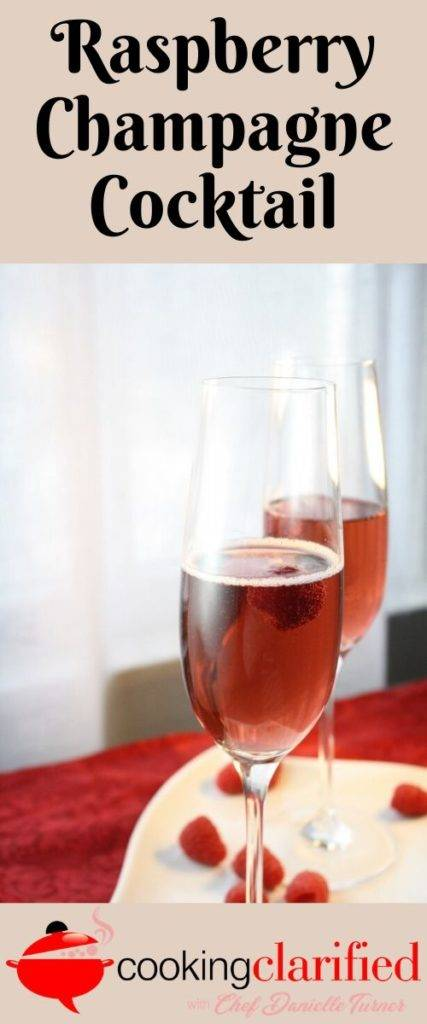 This Raspberry Champagne Cocktail is simple to make, delicious to taste and it'll make a gorgeous addition to your table.