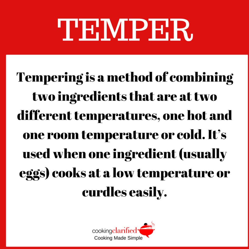 temper eggs